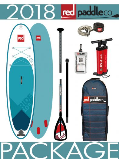 2018 Red Paddle Co 10'8 Ride Inflatable ISUP Paddleboard