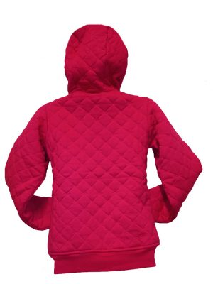 animal wr453 full zip quilted cerise pink ladies uk8 only ex display 2