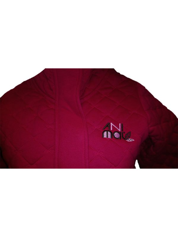 animal wr453 full zip quilted cerise pink ladies uk8 only ex display 4