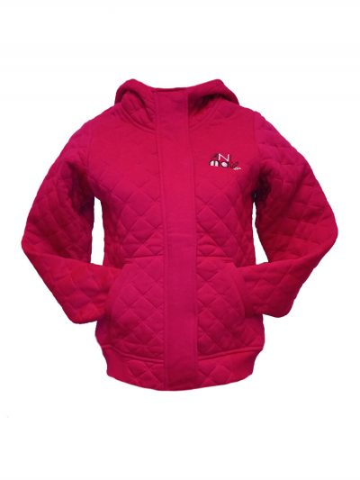 animal wr453 full zip quilted cerise pink ladies uk8 only ex display