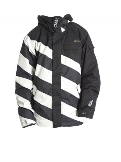 oneill fifty2 black white ski jacket