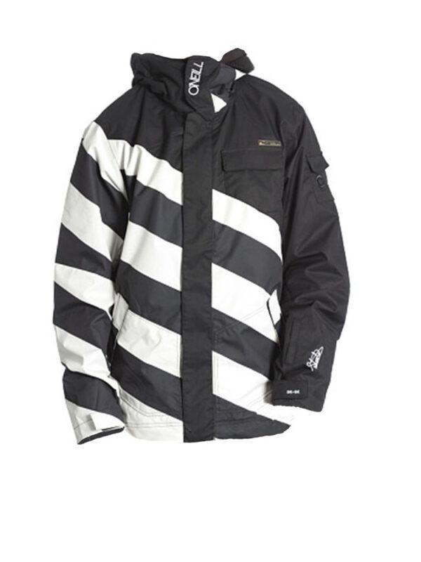 oneill fifty2 black white ski jacket