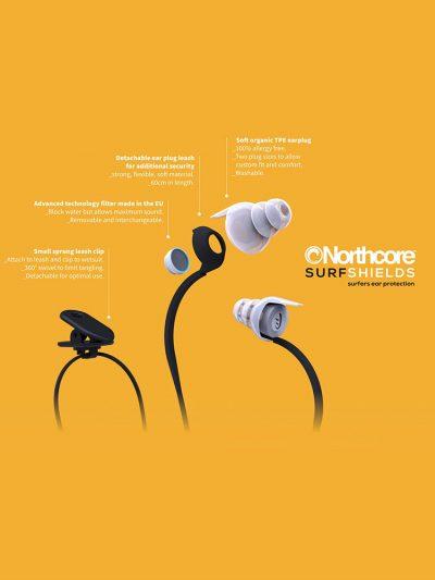 North Core Surfshields surfers ear Plugs