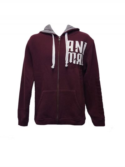 animal cl3ec067-z52 full zip hoody wine mens