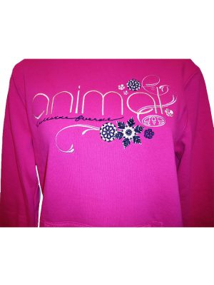 animal cl3ec367-z71 overhead hoody fuchsia ladies 2