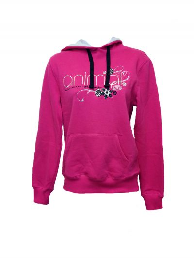 animal cl3ec367-z71 overhead hoody fuchsia ladies