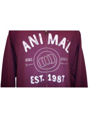 animal cl3sc058 full zip hoody dorset grape mens 2