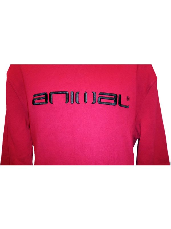 animal cl3wc058-z84 hoody red mens 2