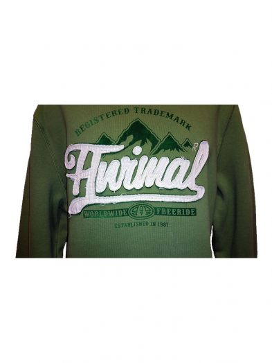 animal cl3wc060-z61 overhead hoody sage mens 2
