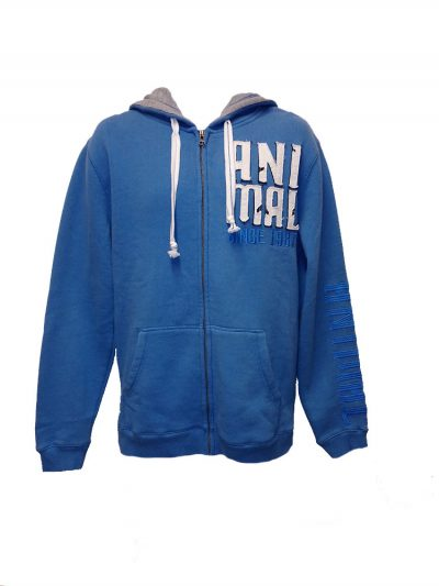 animal cl3wc067-z95 china blue hoody mens