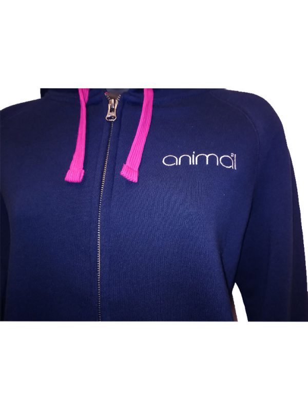 animal cl3wc374 full zip hoody navy ladies 2