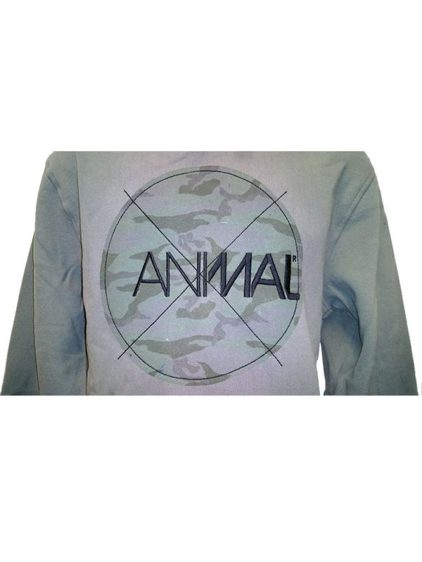animal cl4we094 hoody pewter mens 2