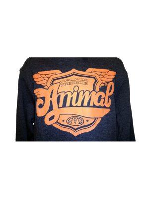 animal wy044 overhead hoody charcoal mens 2