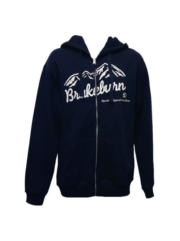 brakeburn mountain full zip hoody navy mens