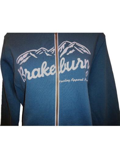 brakeburn mountain full zip hoody blue ladies 2