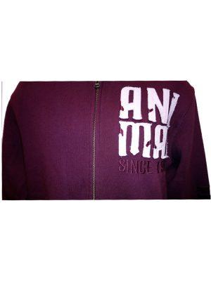 animal cl3ec067-z52 full zip hoody wine mens 2