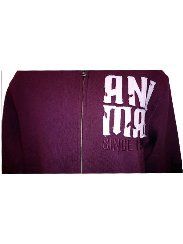 animal cl3ec067-z52 full zip hoody wine mens 2