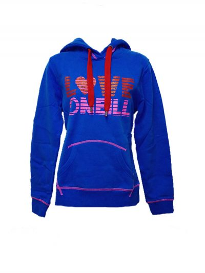 0neill 955685 overhead hoody blue ladies