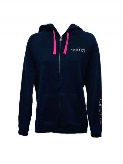 animal cl3wc374 full zip hoody navy ladies