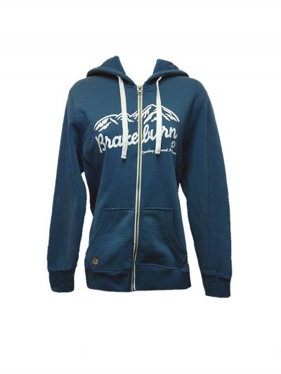 brakeburn mountain full zip hoody blue ladies