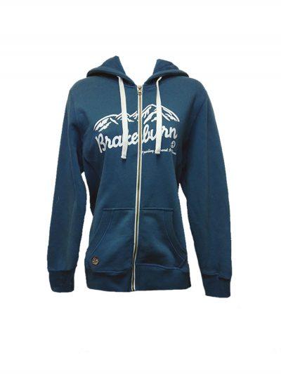 brakeburn mountain full zip hoody blue ladies