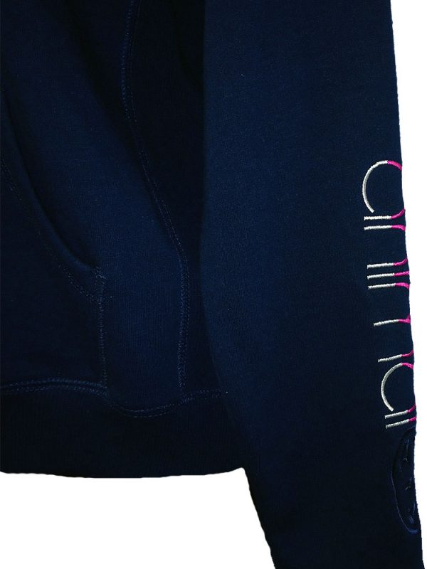 animal cl3wc374 full zip hoody navy ladies 3