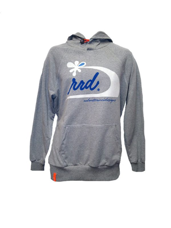 rrd 14106 flower wave grey hoody mens