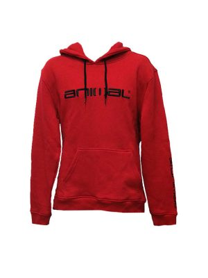 animal cl3wc058-z84 hoody red mens
