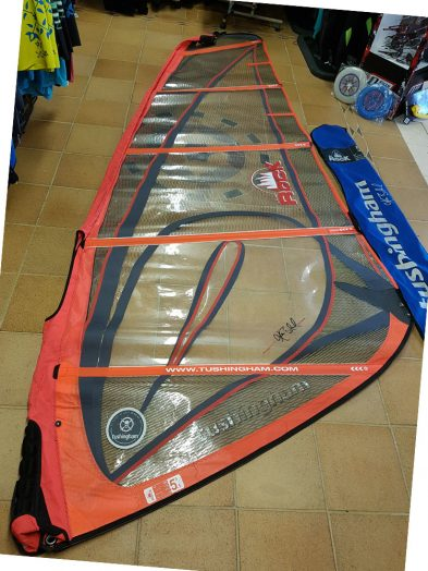 5.5m Tushingham Rock Second Hand windsurfing sail