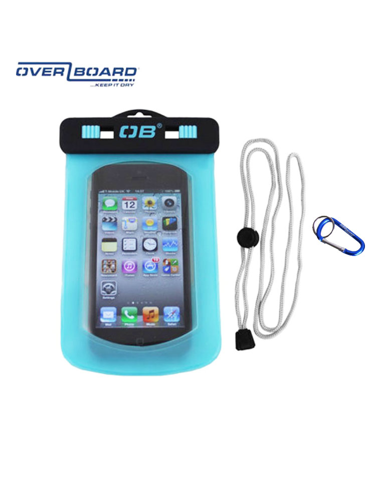premium selection 1f379 1cf9f Overboard Waterproof Phone Case Pouch Blue clear
