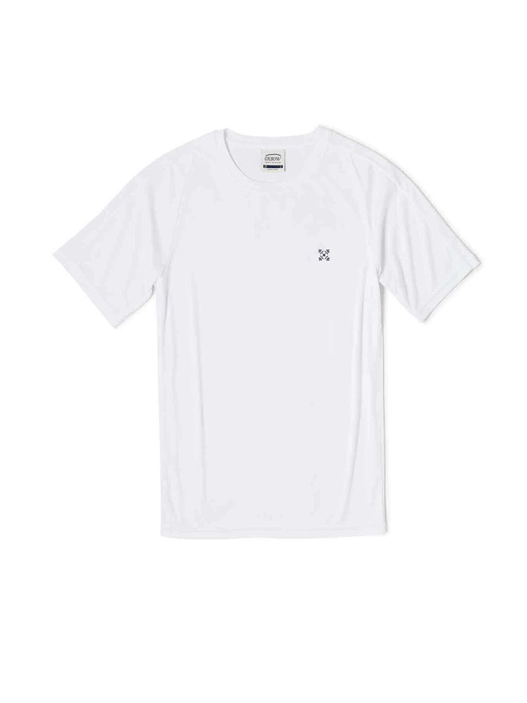 oxbow j1slim anti uv t shirt white mens andybiggs watersports