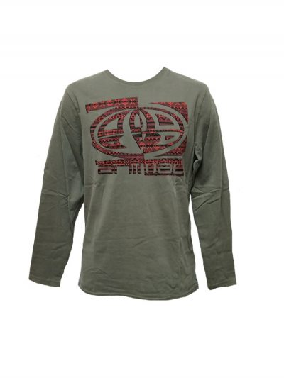 animal cl4we064 long sleeve t shirt pewter mens