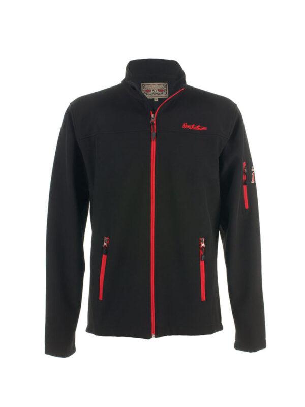 brakeburn newton softshell jacket black mens