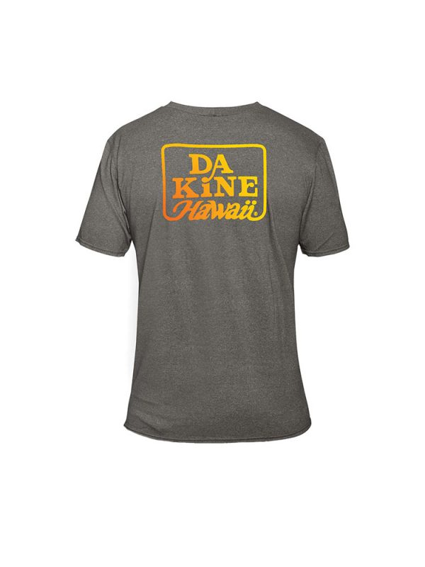 dakine roots t shirt heather grey mens back