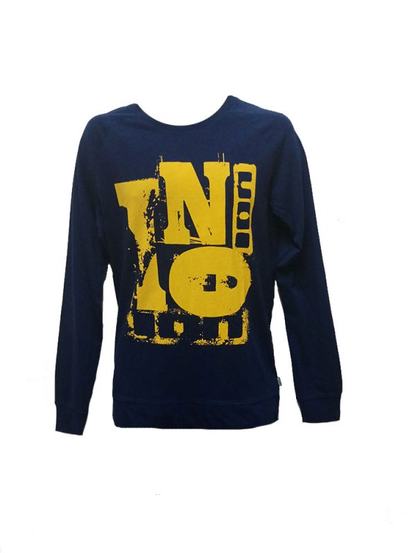ion dave long sleeve t shirt medievil blue mens