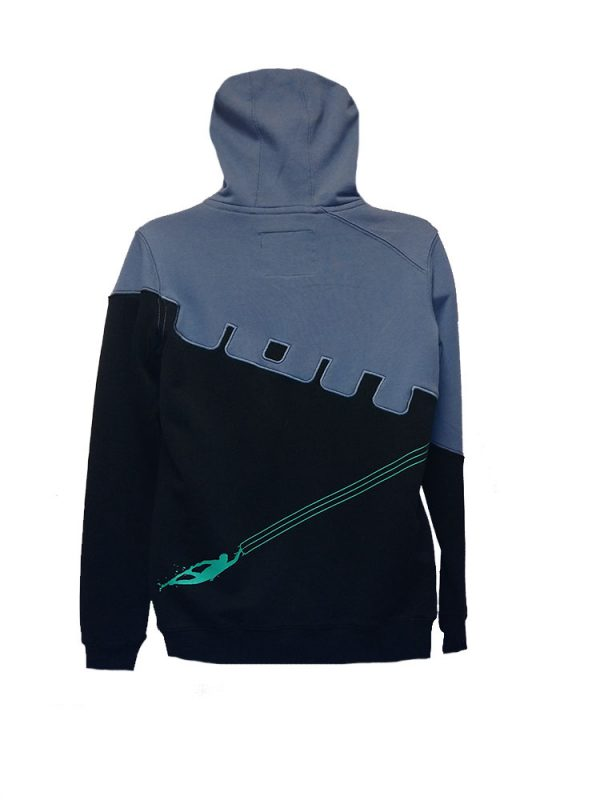 ion coherent kite mania full zip hoody black mens back