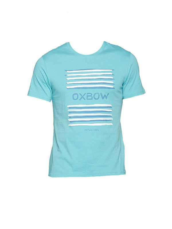 oxbow j1tababe t shirt curacao blue mens