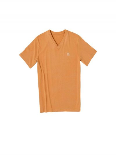 oxbow j1tatinga vee neck t shirt copper mens