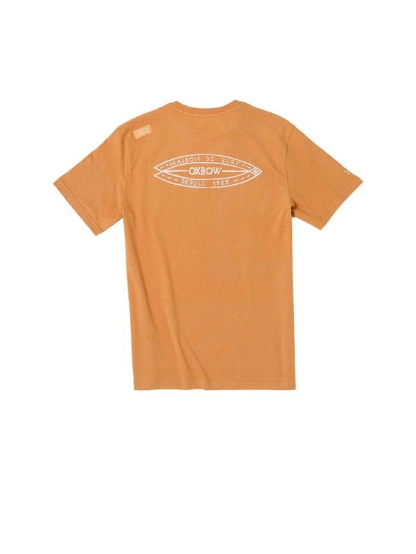 oxbow j1tatinga vee neck t shirt copper mens back