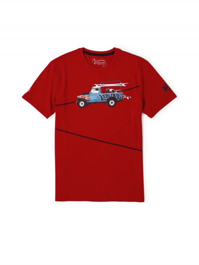 oxbow j2tonaven t shirt red mens
