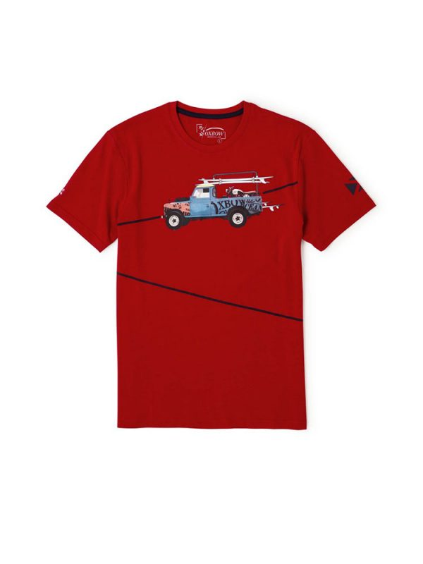 oxbow j2tonaven t shirt red mens