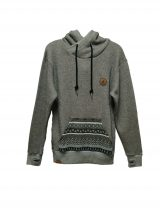 shisha 5w2812 over head hoody black wave mens