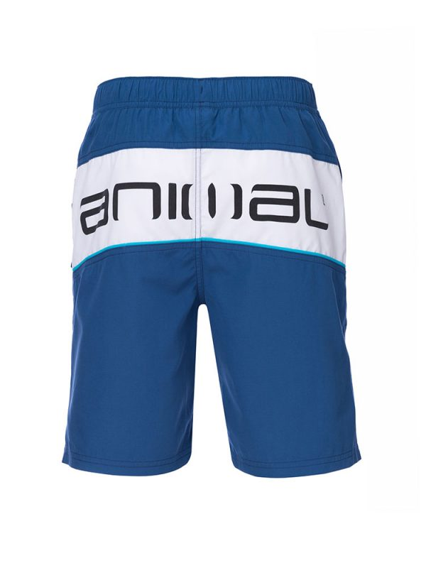 animal cl7sl003 x06 banta elasticated boardshorts mens navy back