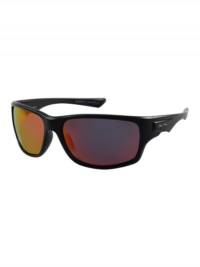 Dirty Dog Sunglasses 53533 Ice Black Frame Grey Red Fusion Polarised Lens