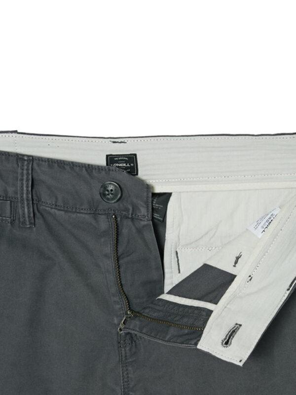 O'Neill Friday Night Chino Shorts Asphalt Inside