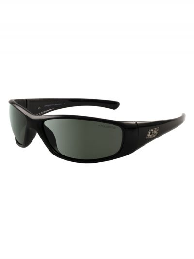 dirty dog 53512 wolf shiny black frame green polarised lens