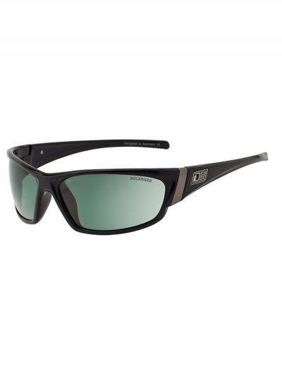 dirty dog 52992 stoat black green polarised lens