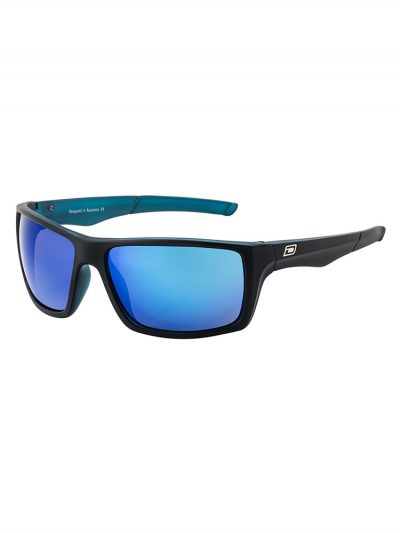 dirty dog 53375 primp l satin black xtal frame blue grey fusion mirror polarised lens