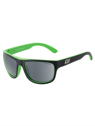 dirty dog 53429 eskimo l black green frame grey polarised lens