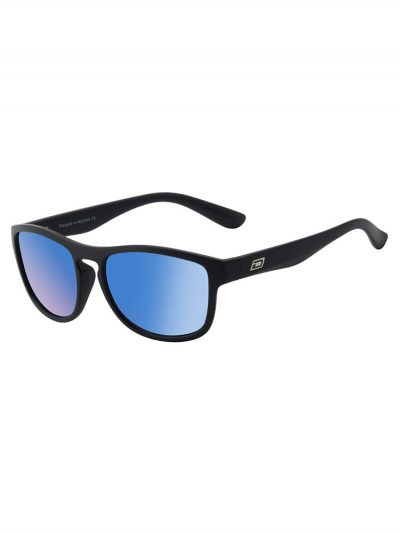 dirty dog 53507 venturer satin black frame grey ice blue mirror polarised lens